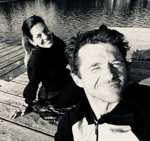 Martina und Stefan von vitahanf am Steg.