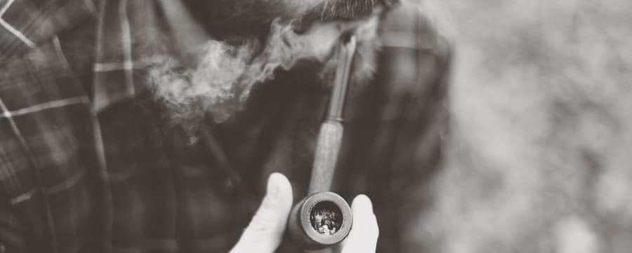 CBD rauchen Pfeife