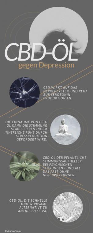 CBD-Öl, ein natürliches Heilmittel und eine Alternative zu Antidepressiva.
