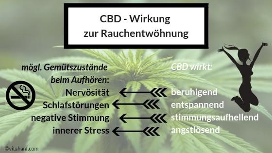 CBD Wirkung zur Raucherentwöhung.