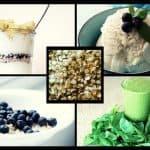 Rezepte mit geschälten Hanfsamen, wie Hanf-Joghurt, Hanf-Eis, Hanf-Smoothie und Hanf-Dip.